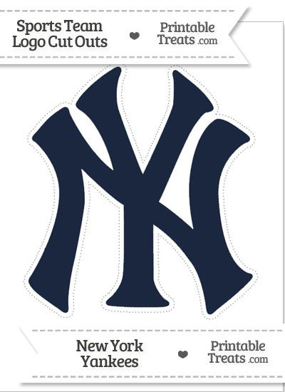 Large New York Yankees Logo Cut Out From Printabletreats