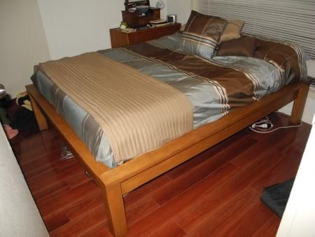 Hailey Platform Bed Modified For Recycled Wood And Building In Small Spaces Do It Yourself