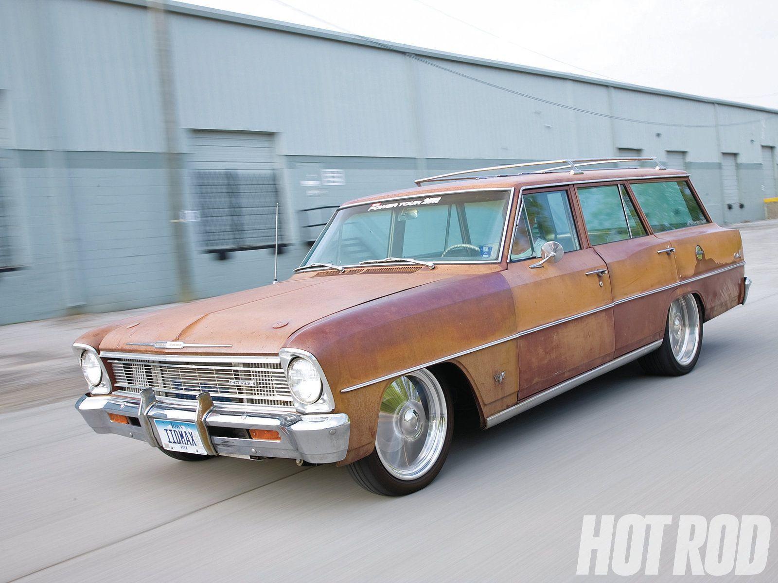 1966 Chevrolet Nova Station Wagon Hot Rod Magazine Station Wagon Chevrolet Nova Chevy Nova Wagon