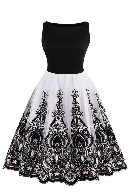 Babyonlinedress Vintage Women Dresses Black Lace 1950s Cocktail Party Gown Click Image For More De Vintage Flare Dress 1950s Fashion Dresses Fashion Dresses [ 1500 x 1000 Pixel ]