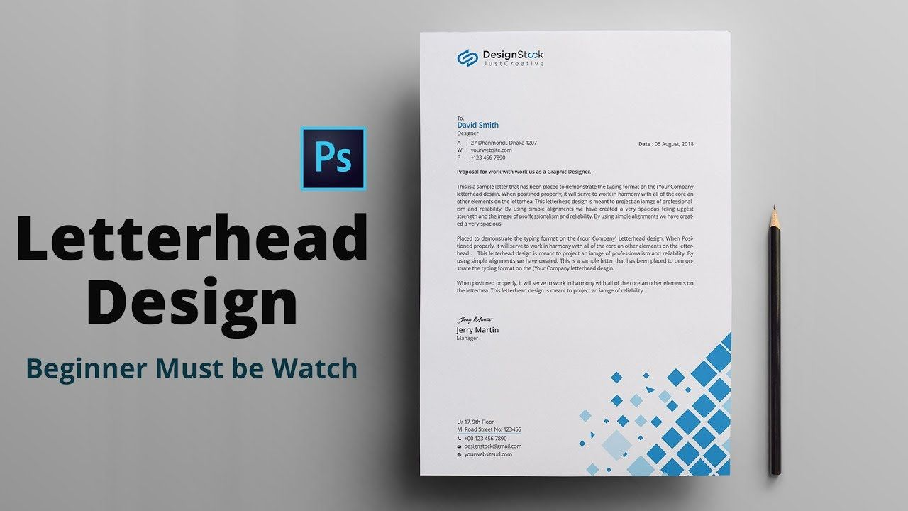 Letterhead Design In Photoshop Tutorial How To Design A