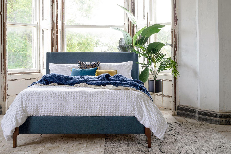 Hagan Prussian Blue Bed Frame King 5ft in 2020 Blue