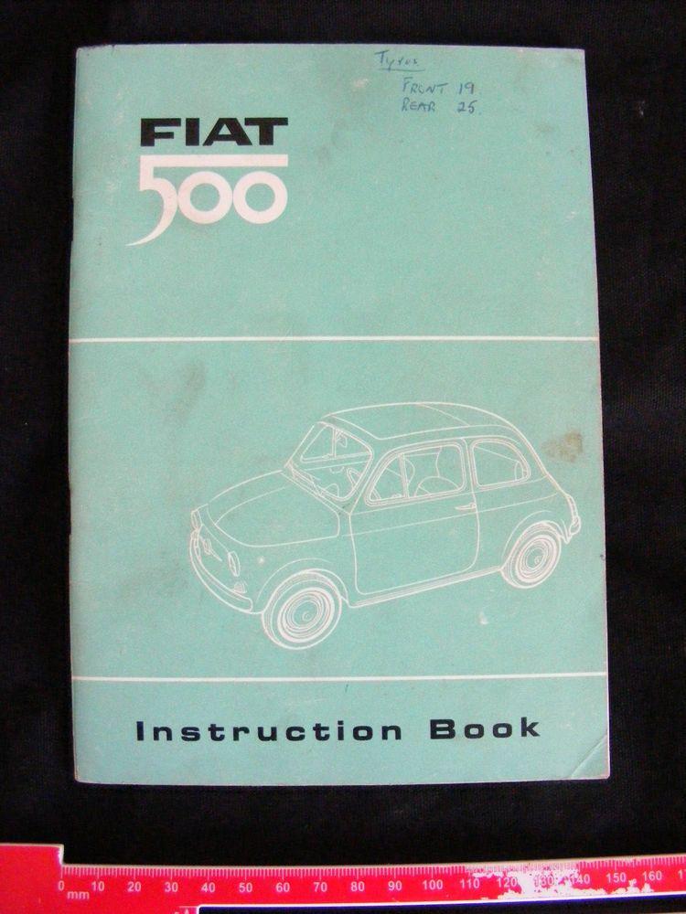Classic Fiat 500 Original Instruction Book 110f Manual Operation