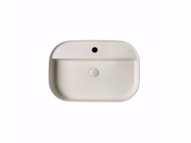 Vasque à poser rectangulaire en céramique SMART B - 45x65 cm Collection Smart B by GALASSIA design Romano Adolini