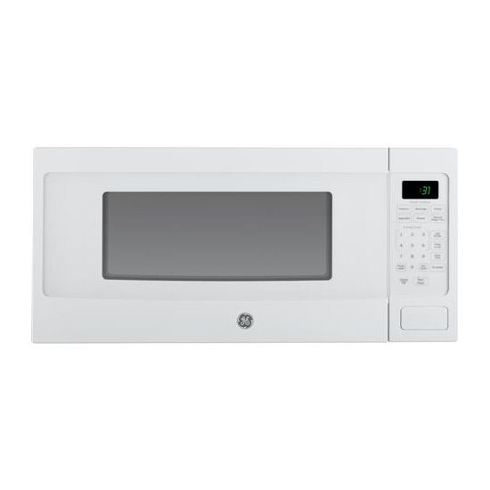 Ge Profile 1 1 Cu Ft Countertop Microwave White Countertop
