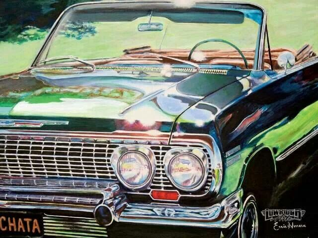 Artist Ernie Herrera Lowriders Lowrider Art Vehicles