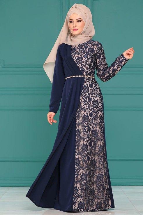 Modaselvim Bugune Ozel Pile Detay Dantelli Abiye 4246s324 Laci Pakaian Wanita Model Pakaian Hijab Model Pakaian