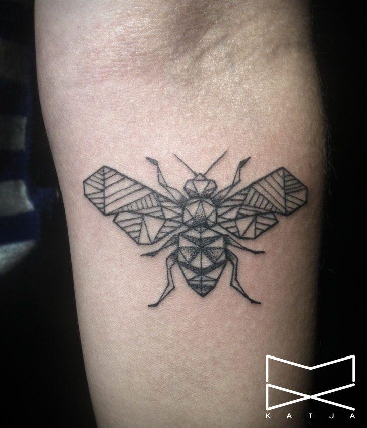 Kaija INK Geometric Bee Tattoo
