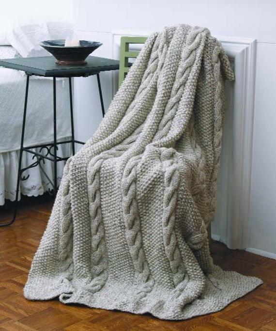 Hand Knit Pure European Cotton Blanket 60x80 80x80