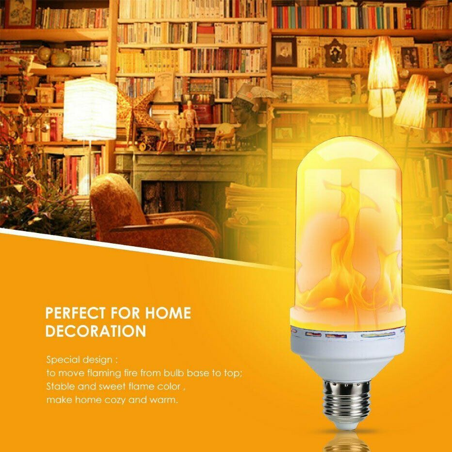9 Watt Led Flame Effect Fire Light Bulbs With 3 Modes Gravity Sensor Flame Lights Most Unique Decorative Lamp Decorative Light Bulbs Bulb Lamp