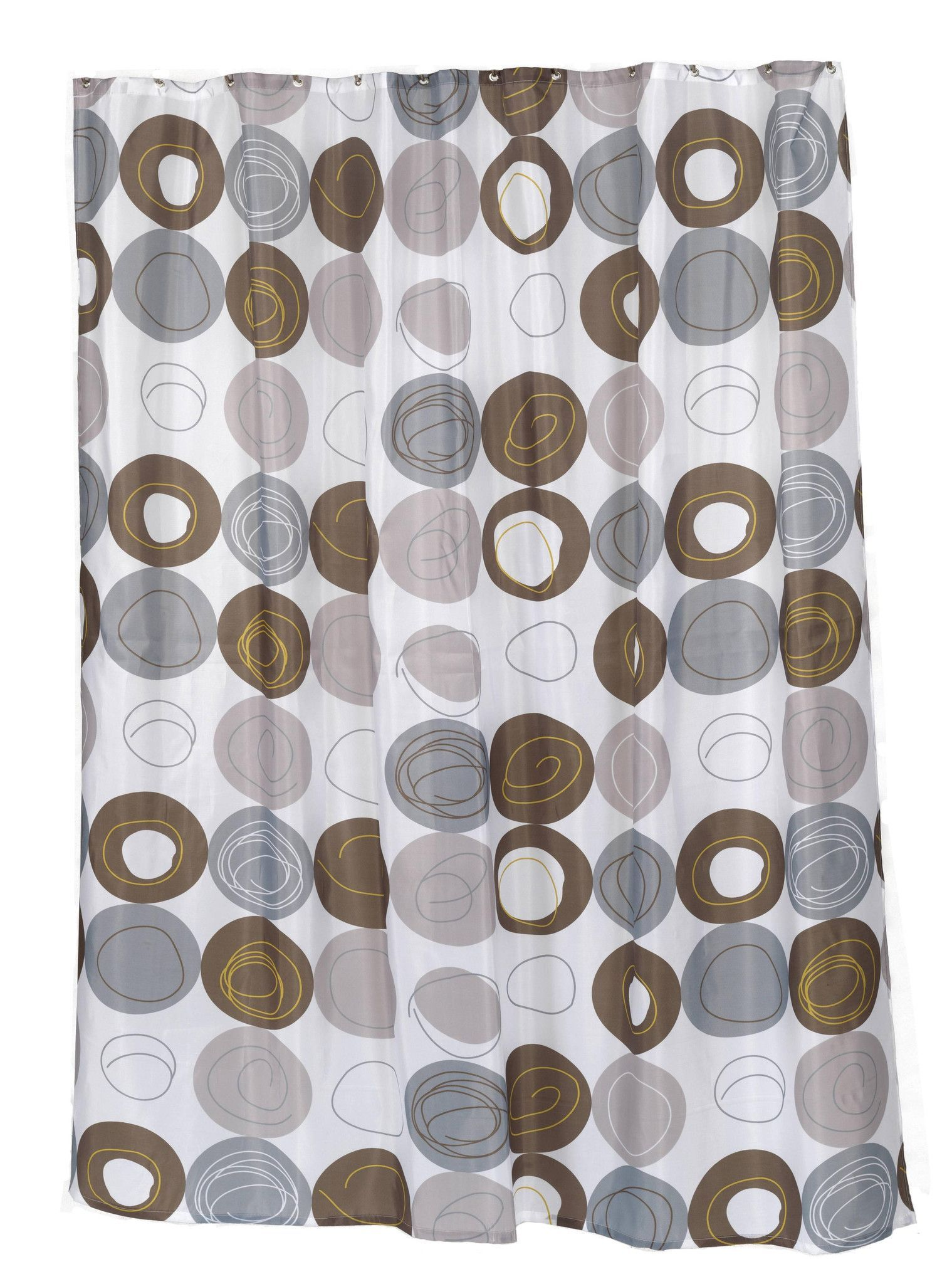 Carnation Home Fashions Polyester Fabric Print 70 By 84 Inch Shower Curtain X Long Madison Multi Earthtone Colors