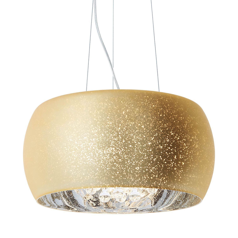 Decken Leuchte Mosaik Pendel Lampe schwarz gold Hänge
