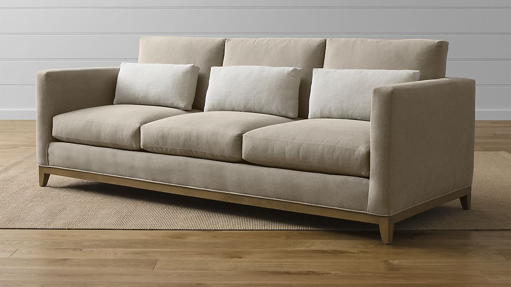 Crate And Barrel Taraval 3 Seat Sofa With Oak Base Take Away The Three Little Pillows Though