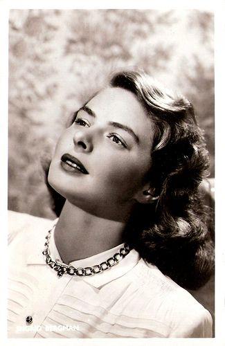 Ingrid Bergman Dutch postcard.