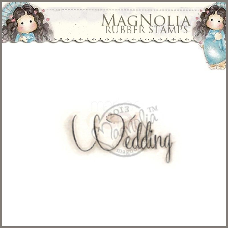 Magnolia Rubber Stamp - SM13 Wedding Text