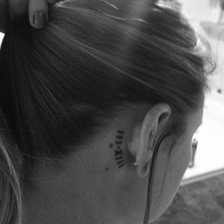 Roman Numerals Tattoo Behind Ear Tattoos Roman Numeral Tattoos Sister Tattoos