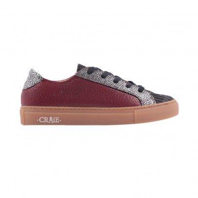Sneakers Tricolore Passé  Craie