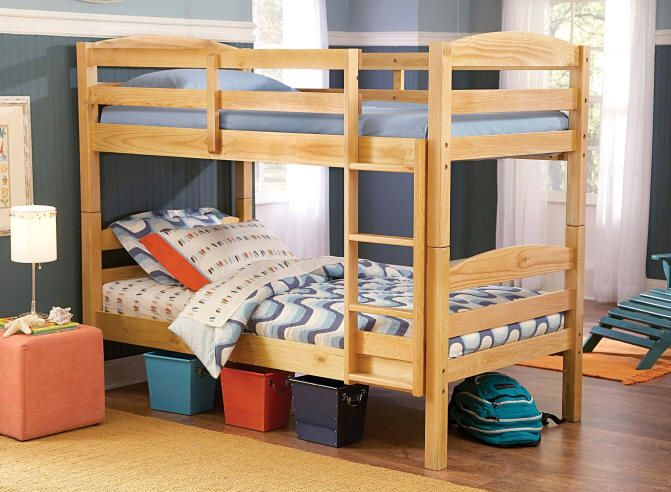 Knud Natural Twin over Twin Bunk Bed