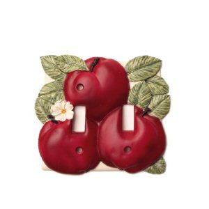 Image Detail for - Double Apple Light Switch Cover | Apple ...