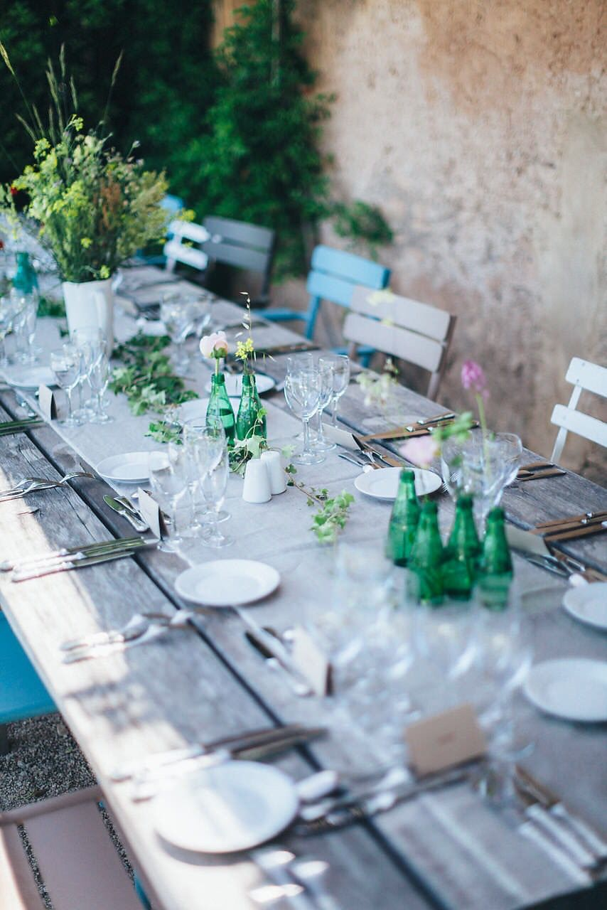 Table Setting For Private Dinner In The South Of France Photo By Reego Photographie Table Settings Table Decorations France Photos