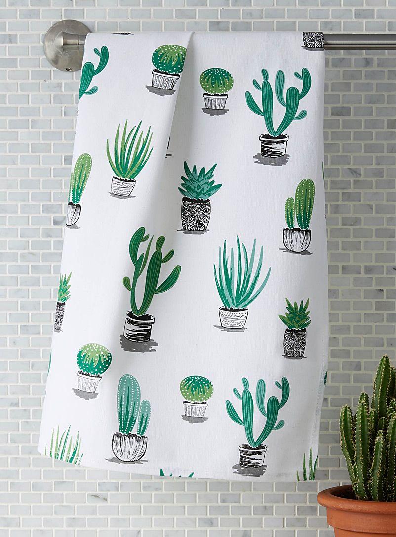 Succulent Gift Kitchen Towel Potted Plant Succulent Decor Farmhouse Kitchen Kitchen Succulent Kitchen Art WELCOME Succulent Tea Towel