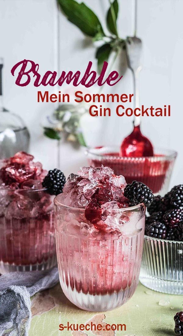 Photo of Bramble – My summer gin cocktail made from blackberries, gin and lemon