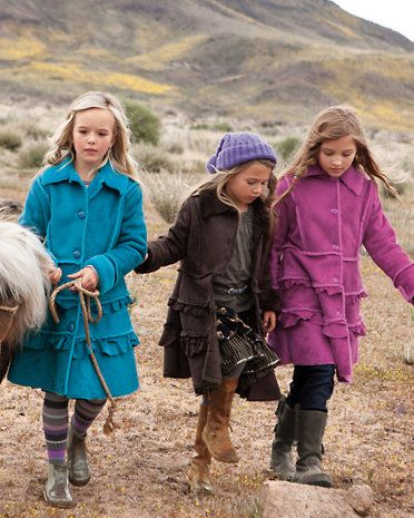 Widgeon Ruffle-Tiered Faux-Shearling Coat - Baby & Girls | Girl's ...