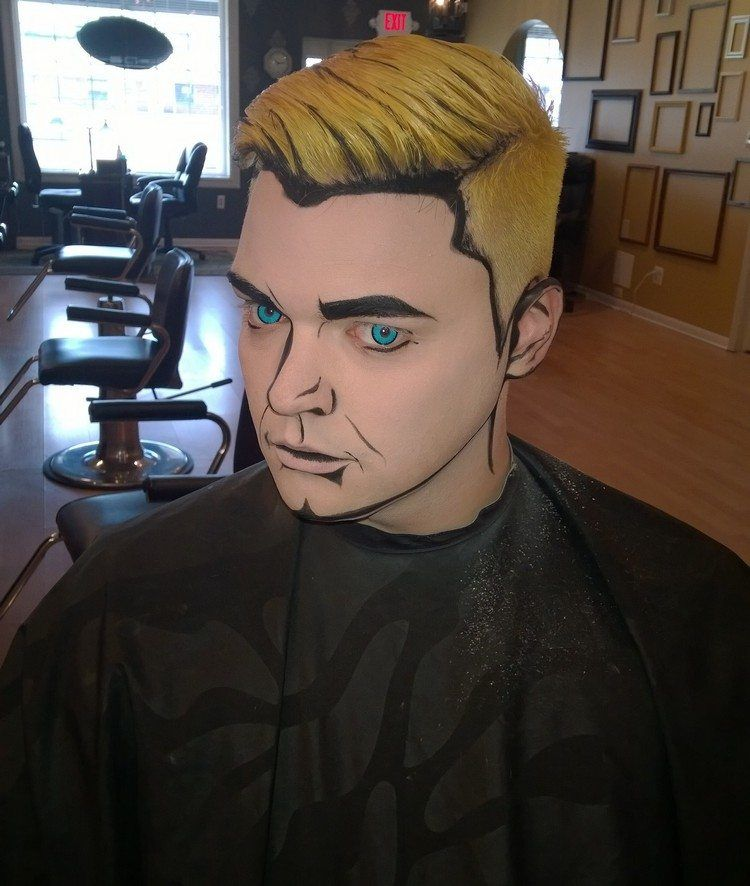 Cartoon Artiges Make Up Fur Manner Kostume Und Co Halloween