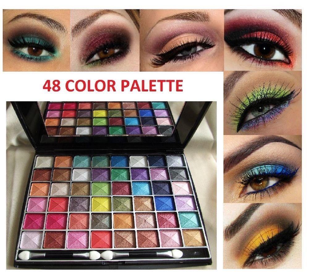 48 New Cosmetics Eye Shadow Color Makeup Pro Glitter Eyeshadow