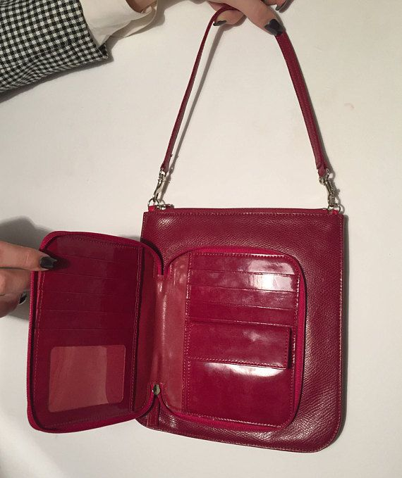f9e3faa354 Vintage Givenchy Bag practical wallet attached Red Givenchy