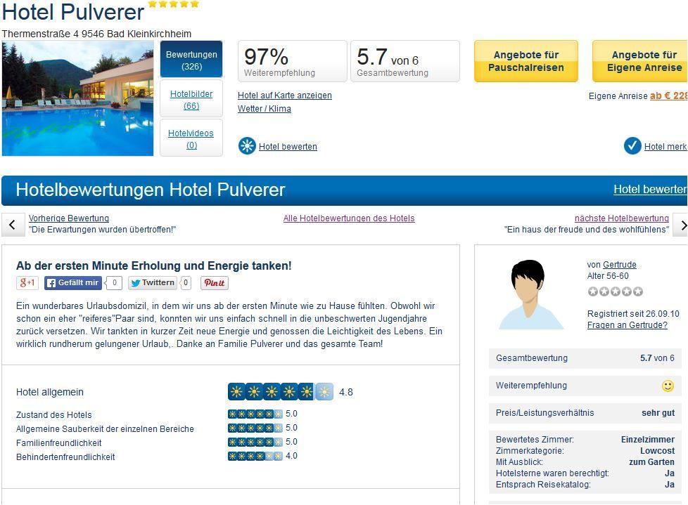 Hotelbewertung der Thermenwelt Hotel Pulverer auf holidaycheck http://www.holidaycheck.at/hotelbewertung-Hotel+Pulverer+Ab+der+ersten+Minute+Erholung+und+Energie+tanken-ch_hb-id_13750462.html