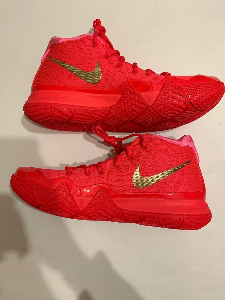 dc4a9804a0a NIKE KYRIE 4 RED CARPET MENS  943806-602  Sz 9 RED GOLD  w BOX No LID    fashion  clothing  shoes  accessories  mensshoes  athleticshoes (ebay link)