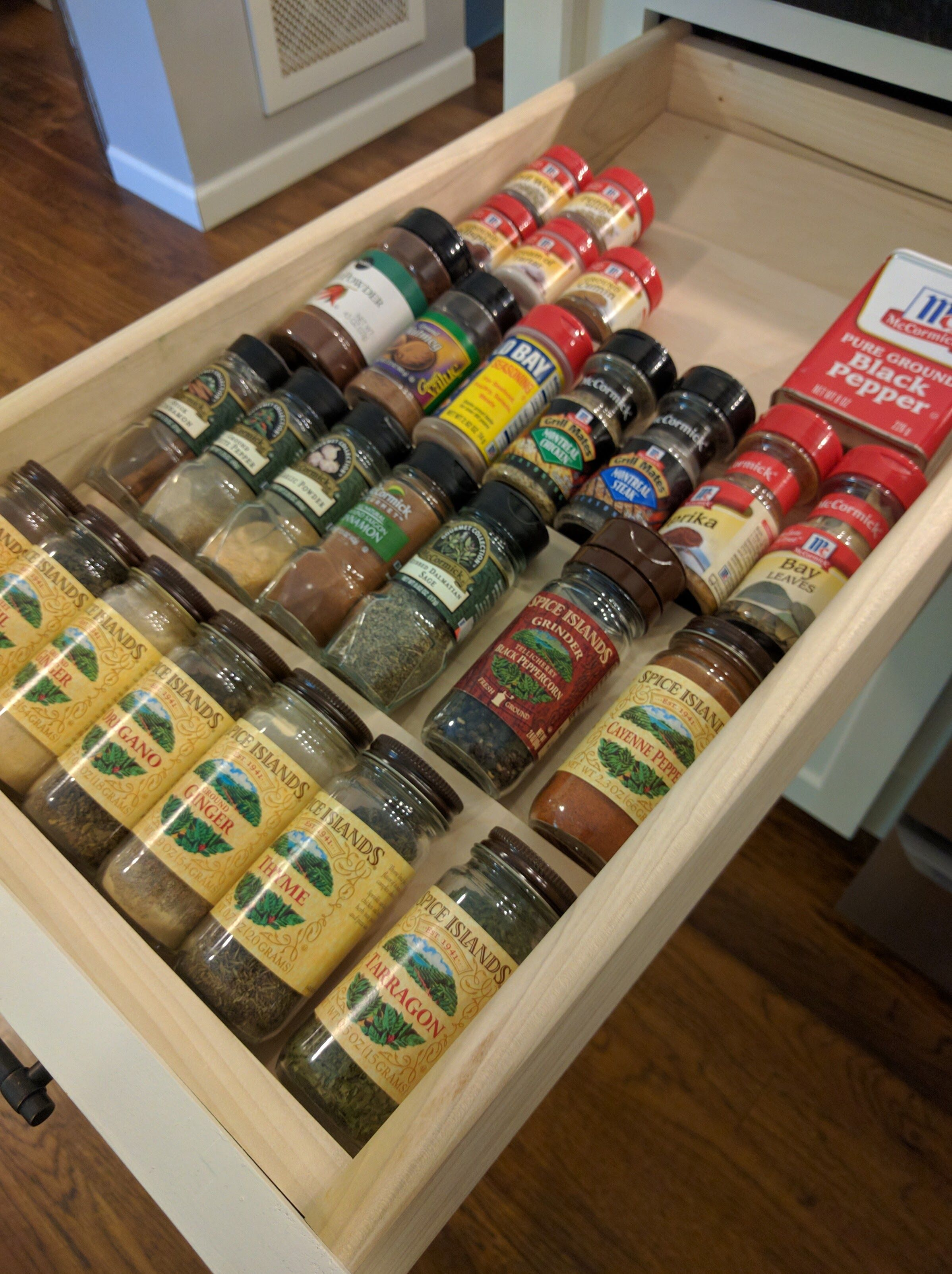 Spice drawer inserts quick free and awesome do it yourself spice drawer inserts quick free and awesome do it yourself home projects solutioingenieria Image collections