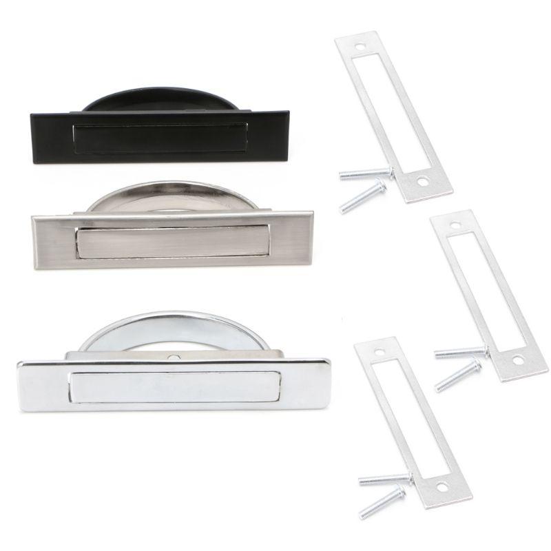 Hidden Door Handle Zinc Alloy Recessed Flush Pull Cover Floor Cabinet Furniture W315
