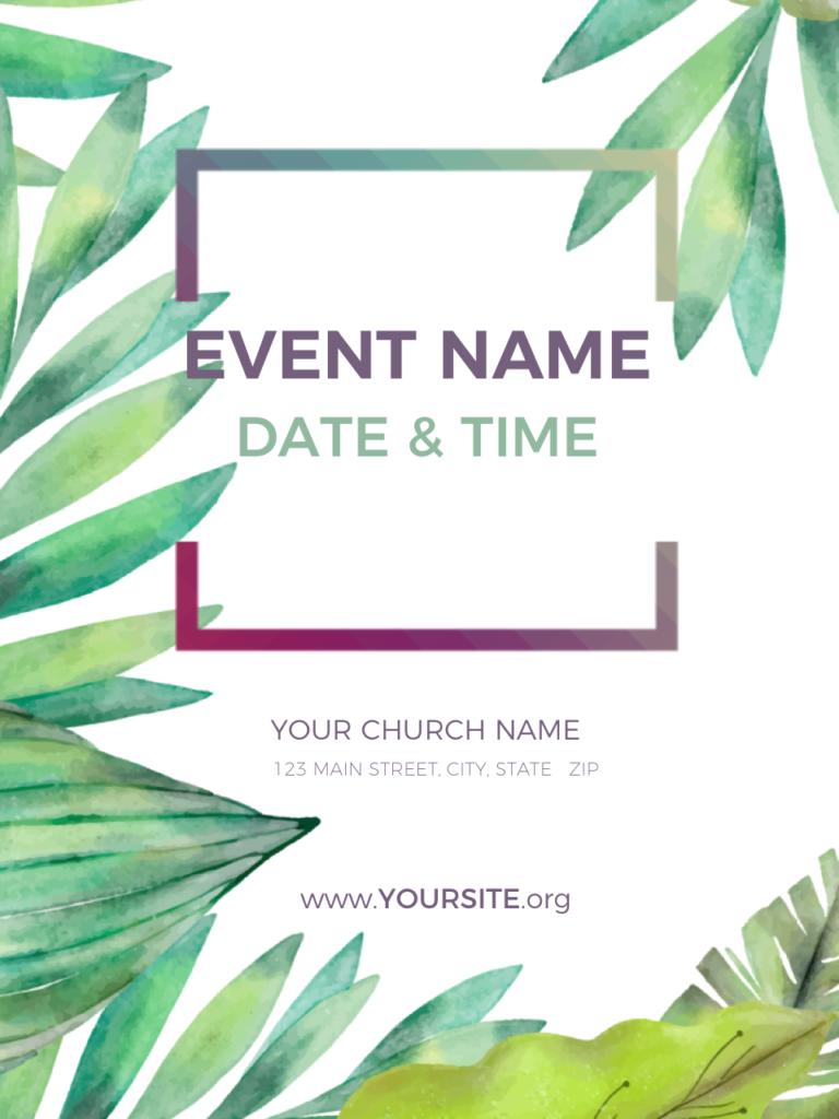 palm sunday church welcome flyer progressive church media
