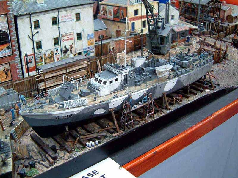1/48 Wartime Harbor Diorama | Ship & Submarines Dioramas