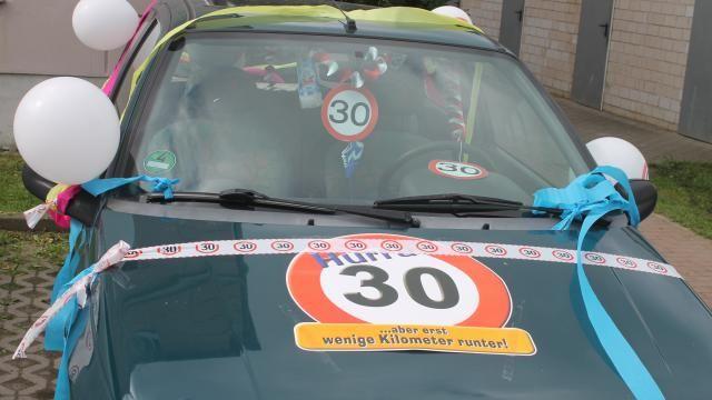 Auto Dekorieren Zum 30 Geburtstag 30 Geburtstag Pinterest