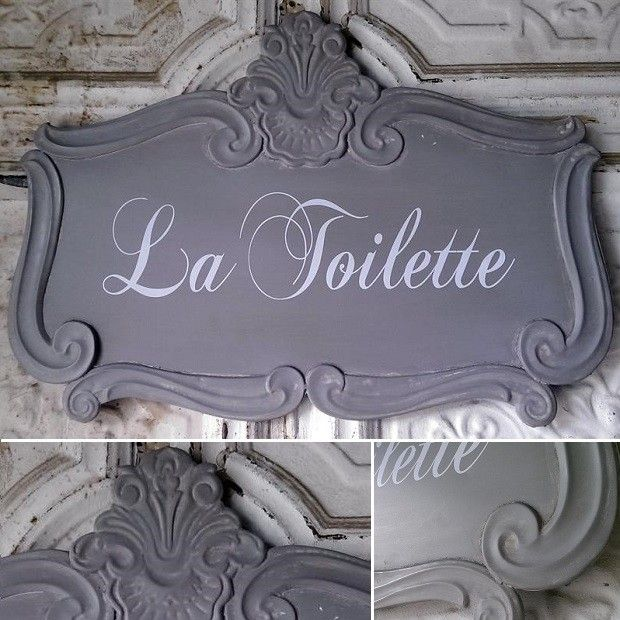 La Toilette Tin Plaque In 2019 Antique Farmhouse French Bathroom