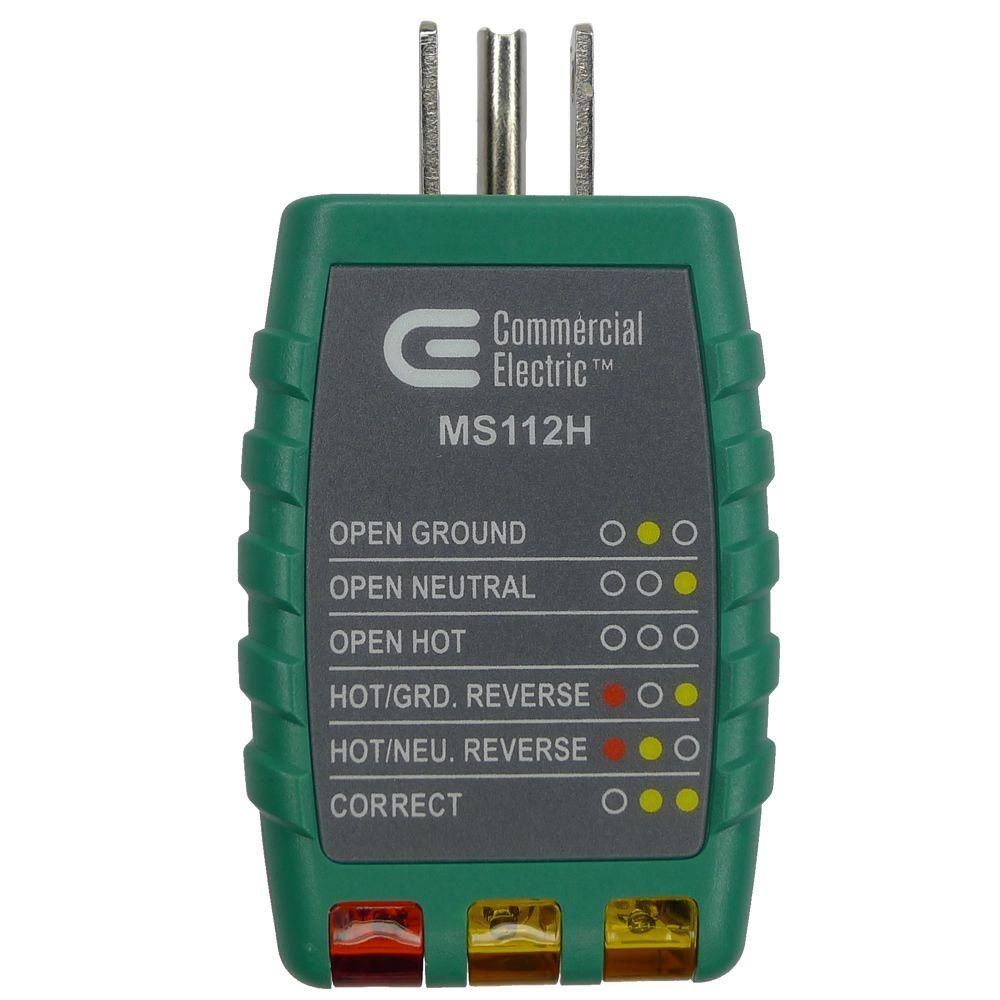 Commercial Electric Outlet Tester-OT-112R | Commercial ... on battery home depot, power supply home depot, hoses home depot, tires home depot, panels home depot, springs home depot, software home depot, lamps home depot, belts home depot, receptacles home depot, accessories home depot, appliances home depot, hvac home depot, wire home depot, painting home depot, tubing home depot, ceilings home depot, cabinets home depot, fuses home depot, filter home depot,