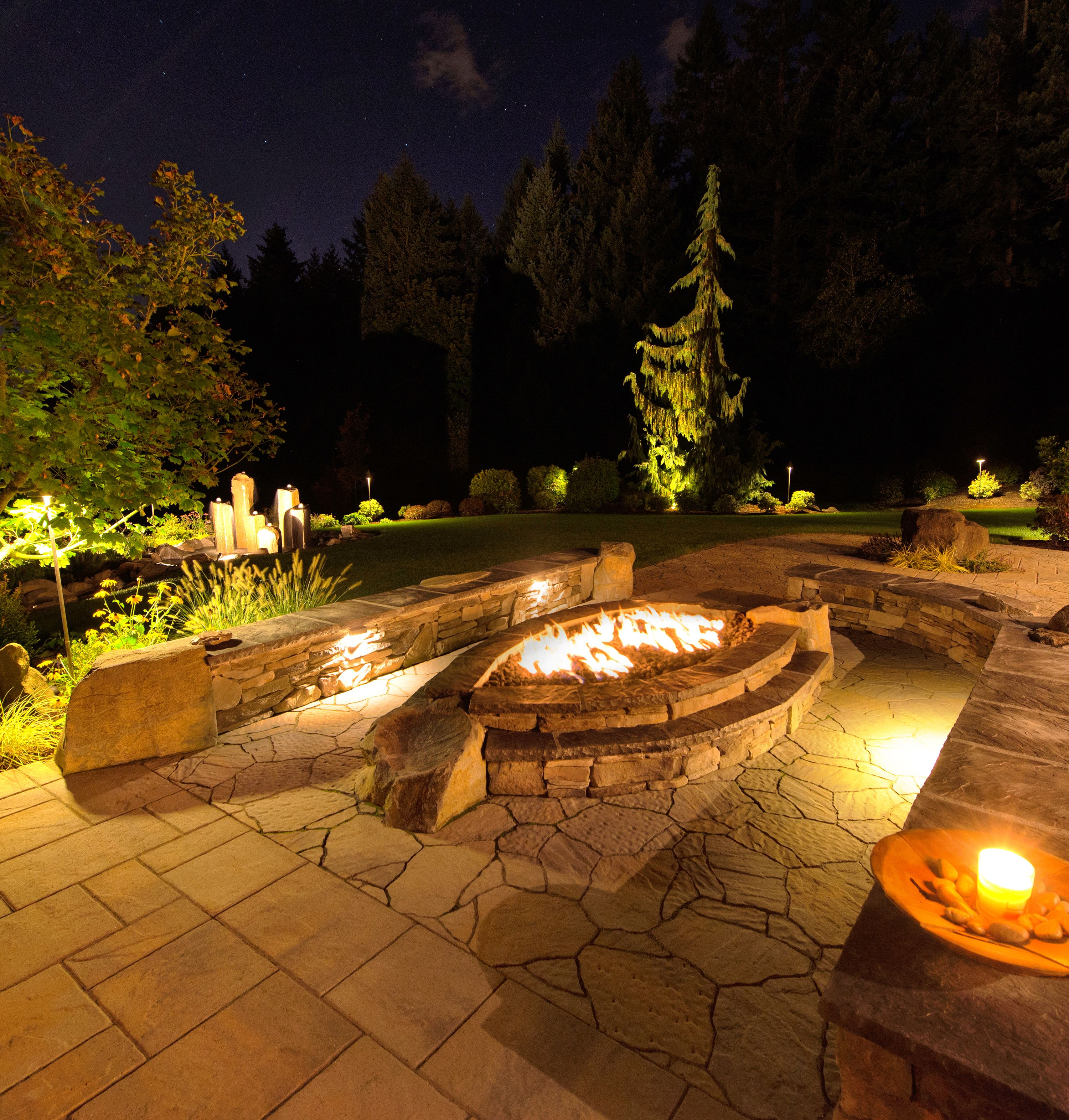 Pool Shapes, Features & Design Options (With images ... on For Living Lawrence Fire Pit id=92251