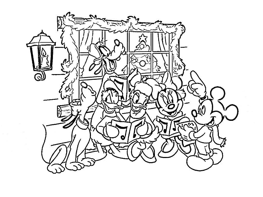 Christmas Coloring Disney Free Pages For ChristmasFull