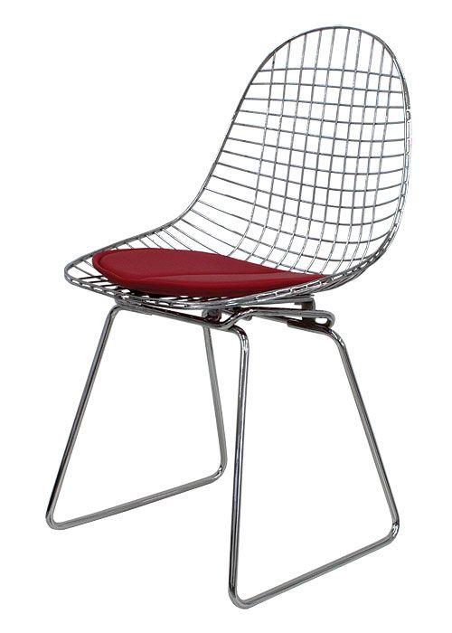 silla eames metalica silla eames en alambre trefilado de acero soldado y cromado del color