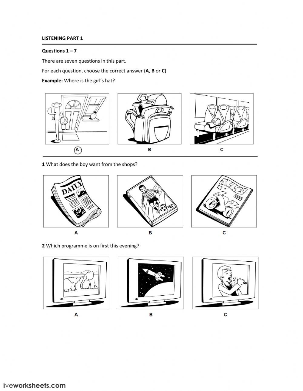 Listening Comprehension Interactive And Downloadable Worksheet You Can Do The Exercises Online Or Download The Worksheet As Pdf Dengan Gambar