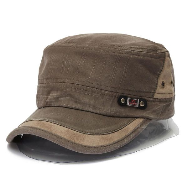 8d716ecad6a ... shop Unisex Cotton Blend Military Washed Baseball Cap Vintage Army  Plain Flat Cadet Hat For Men Women at Banggood.com. Buy fashion Hats   Caps  online.