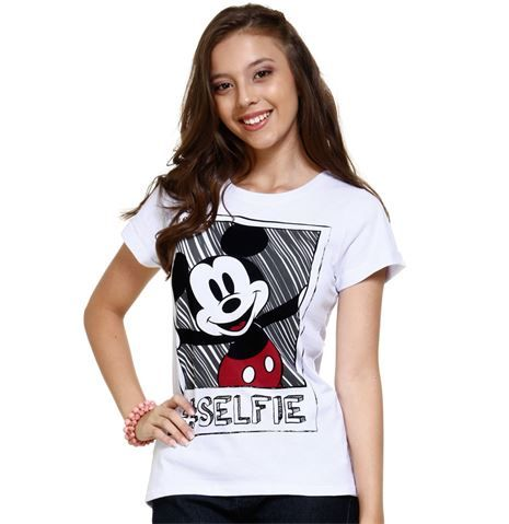 e8b7288837 Blusa juvenil com estampa Mickey Disney