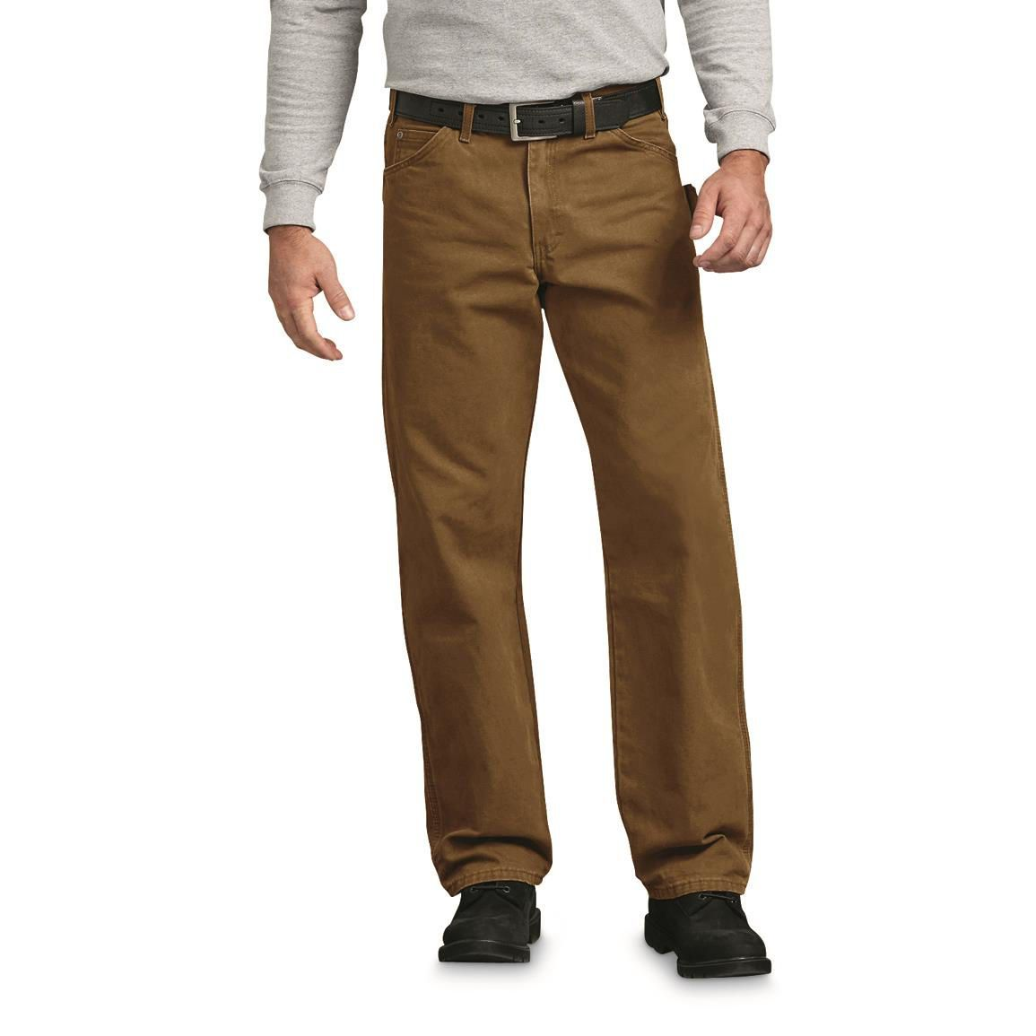 dickies relaxed fit straight leg carpenter duck jean on cheap insulated coveralls for men id=45414