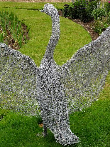 Garden Art Wire Swan Garden Art Garden Sculpture Chicken