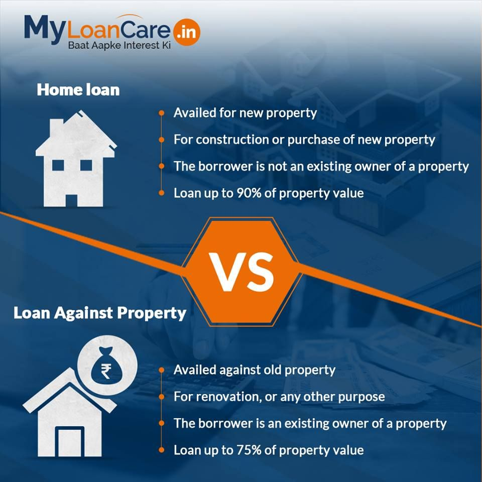Key Differences Between Loan Against Property Home Loan Home Loans Loan Application Life Insurance Corporation