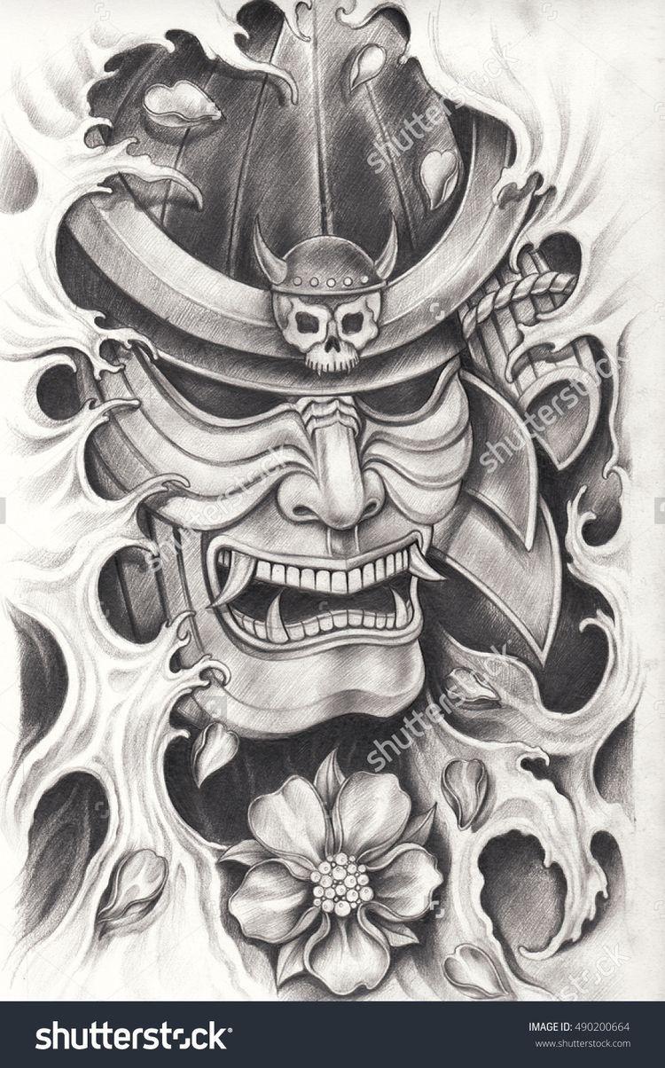 Pin By Jake Russell On Leg Sleeve Samurai Warrior Tattoo