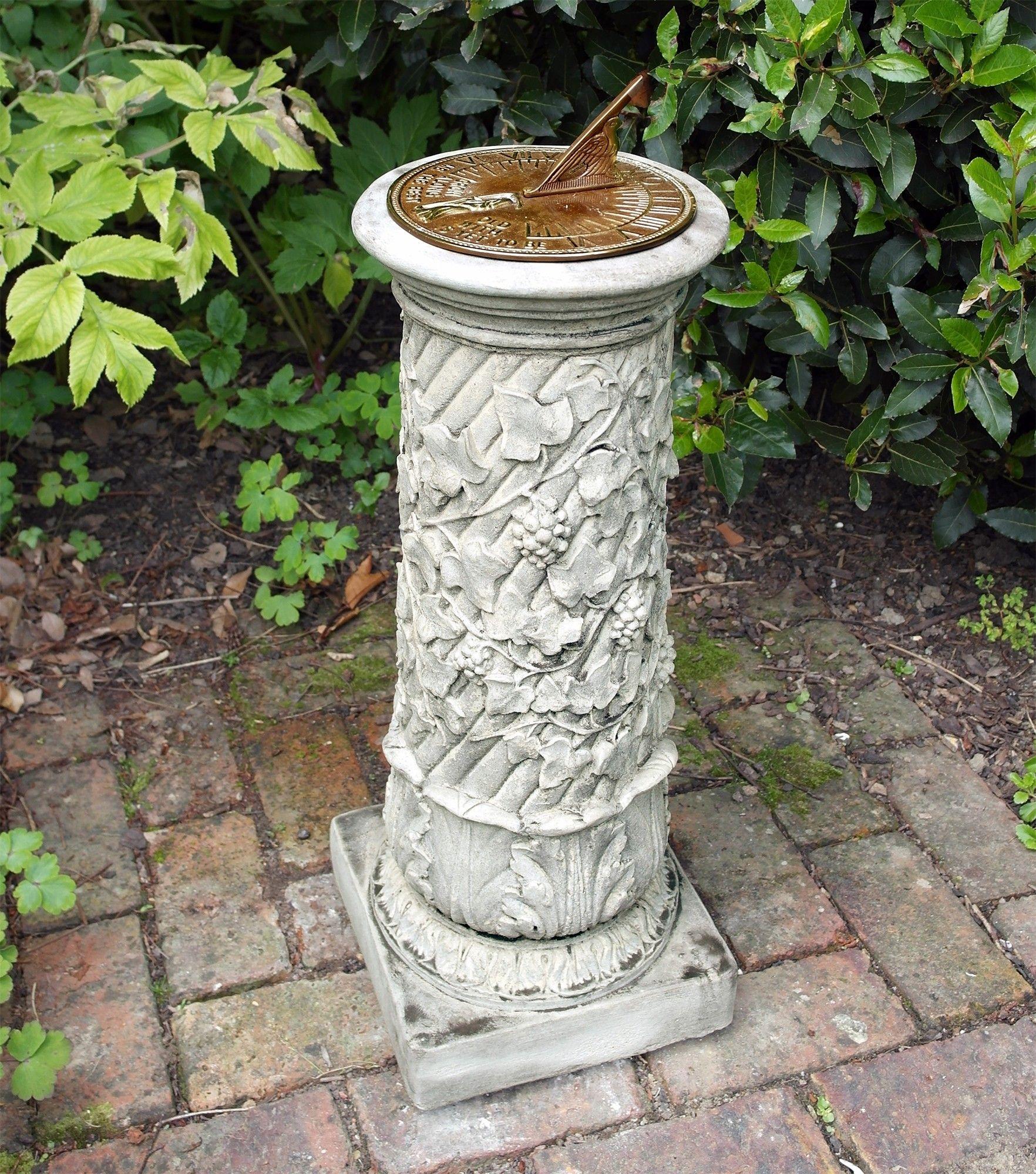 stone elegant of awesome pedestal sun garden com victorian lawsonreport dial sundial aged brass